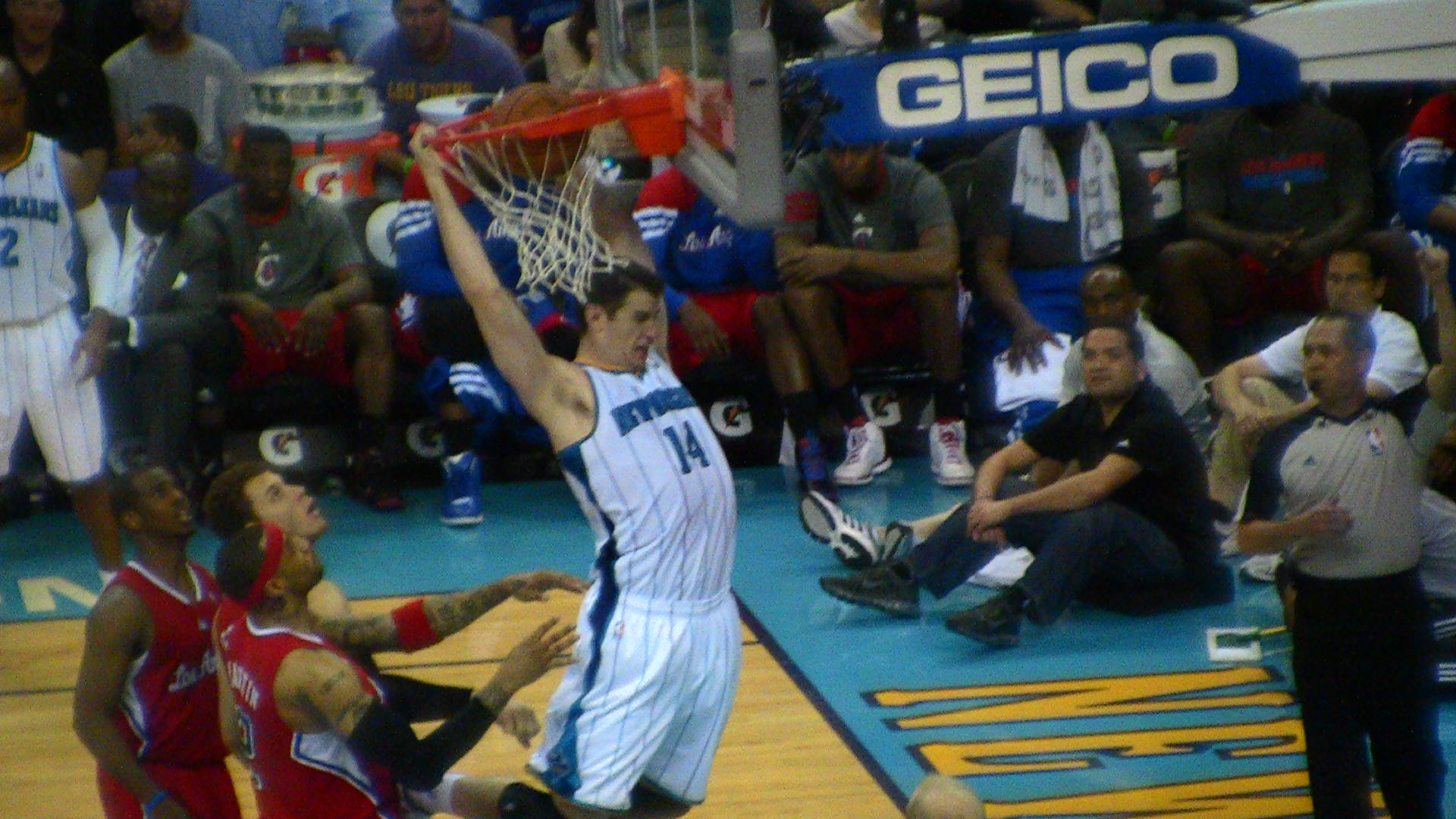Despite his ill-advised foul, Jason Smith played a very impressive couple of games this week.